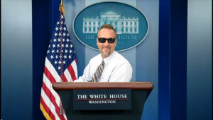 Mike Strejcek Removed Picture Background Replaced with White House Podium