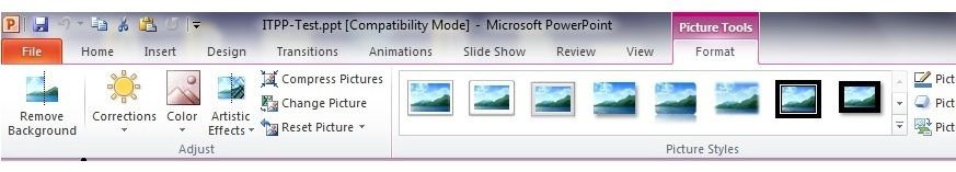 PowerPoint Picture Tools - remove a picture's background